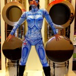Airbrush Bodypainting Chrome-Girl