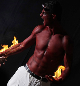 Bodypainting on Fire