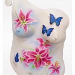 Airbrush auf Köperabdruck