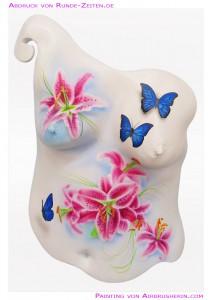 Körperabformung mit Airbrush bemalt