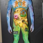 Bodypainting zum Theman Holland