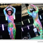 Schrilles Bodypainting zum Thema Kulturerbe